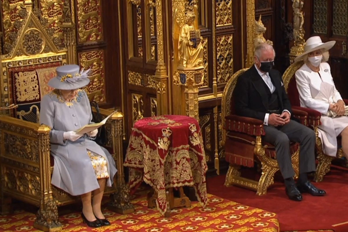 The Queen gives her May 2021 speech (picture: BBC)