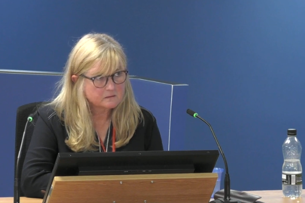 Teresa Brown gives evidence to the Grenfell Tower Inquiry (picture: Grenfell Tower Inquiry)
