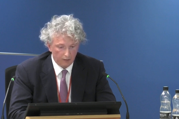 Rock Feilding-Mellen gives evidence to the Grenfell Tower Inquiry today (picture: Grenfell Tower Inquiry)