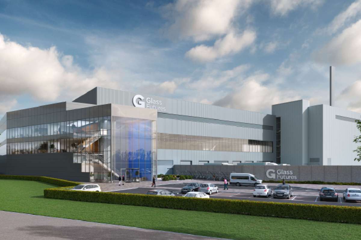 Artists impression of the new Glass Futures research and development facility