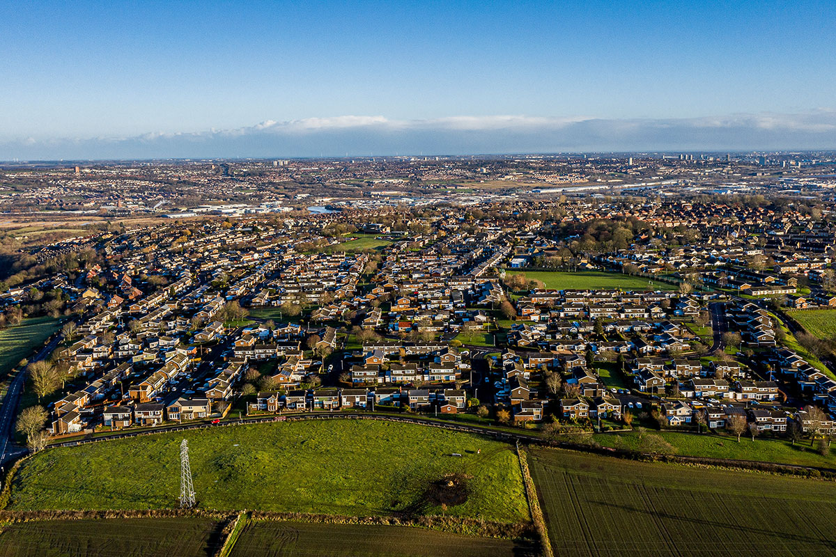 Winlaton village, near Gateshead, where 20% hydrogen and 80% natural gas will be supplied to 670 homes