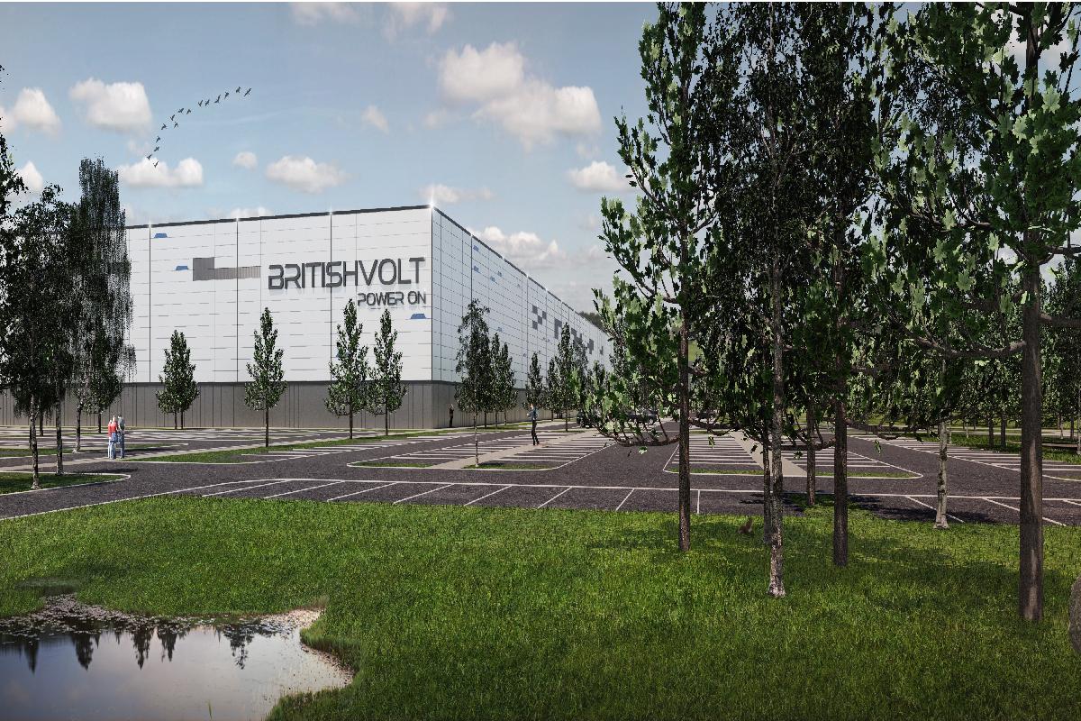Electric vehicle batteries producer Britishvolt Factory Image (Image provided by Britishvolt)