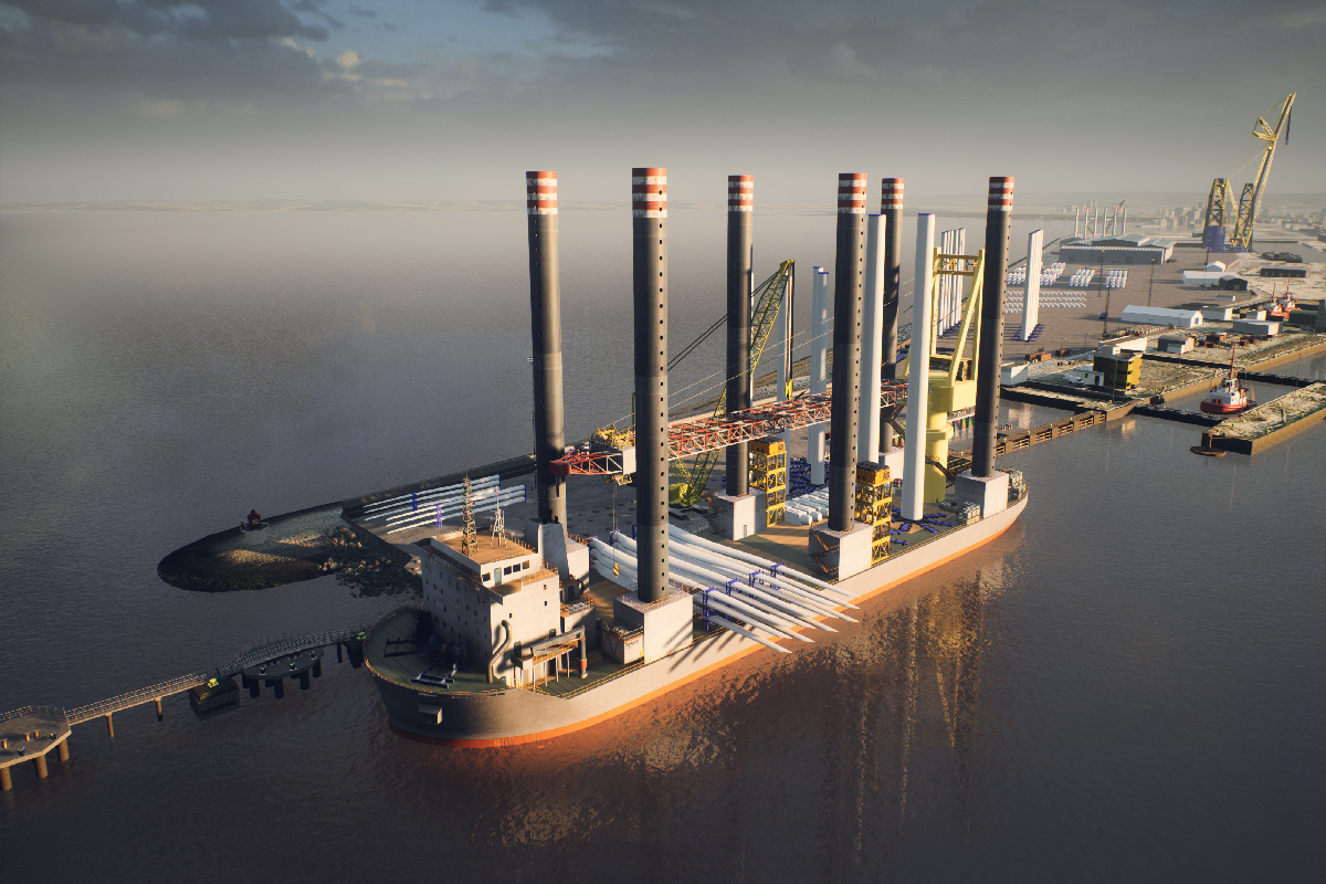 Renewable energy hub plans for Port of Leith (Image supplied by Forth Ports)