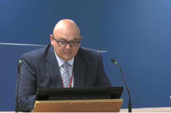 Matthew Ramsey gives evidence to the inquiry (picture: Grenfell Tower Inquiry)