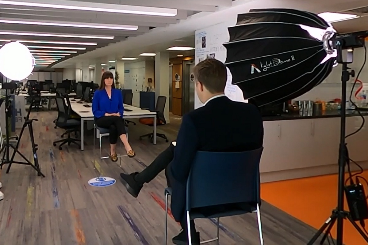 An interview with Kate Henderson was broadcast last night (picture: ITV News)