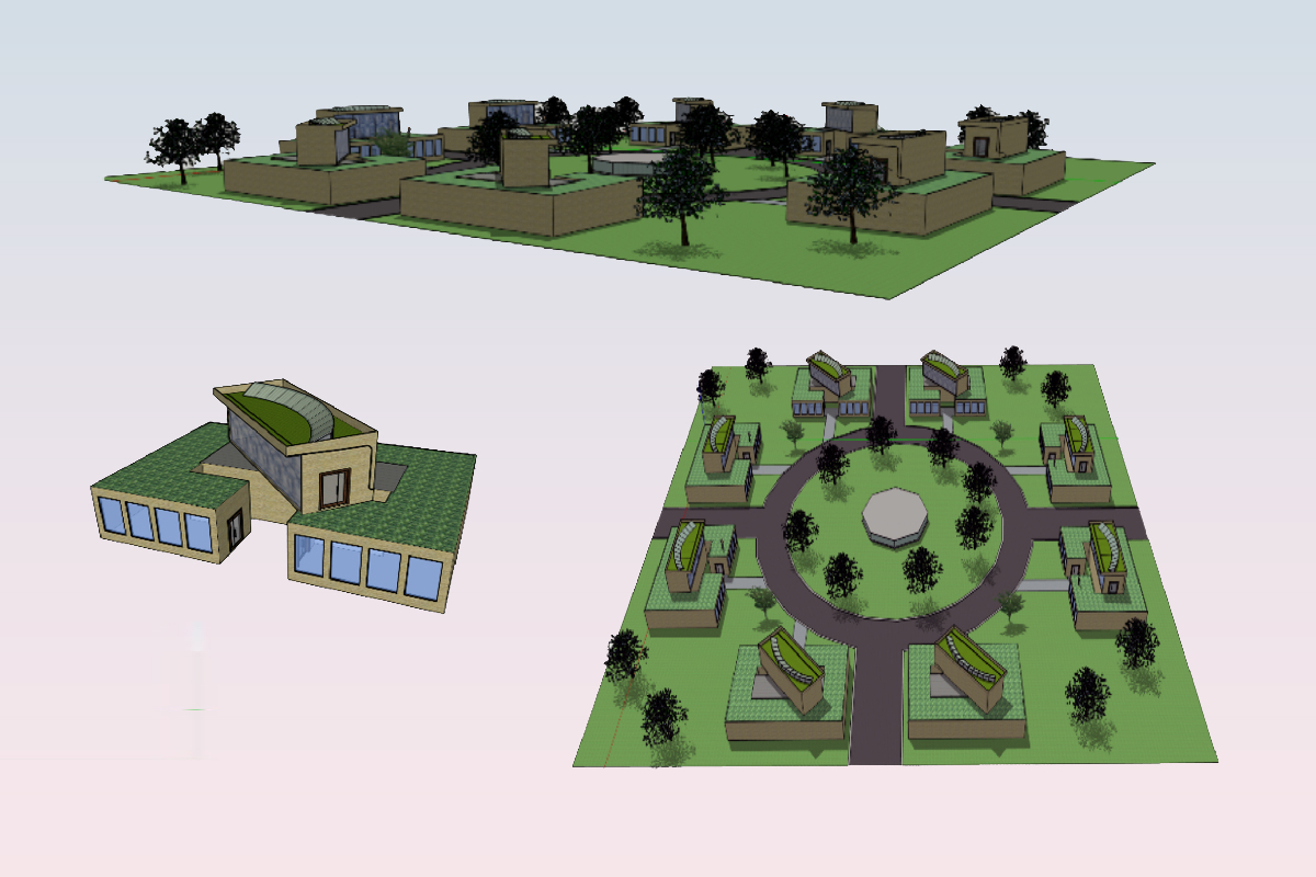 Chainlink Communities design by Nottingham Girls' Academy, the 14-16 winners in the Home of 2030 Young Persons' Design Challenge