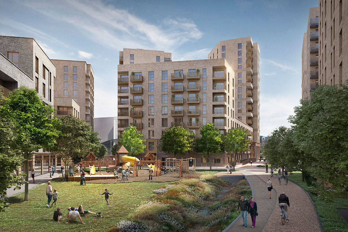 The regeneration project will deliver 550 affordable housing properties (picture: Wates Residential/Havering Council)