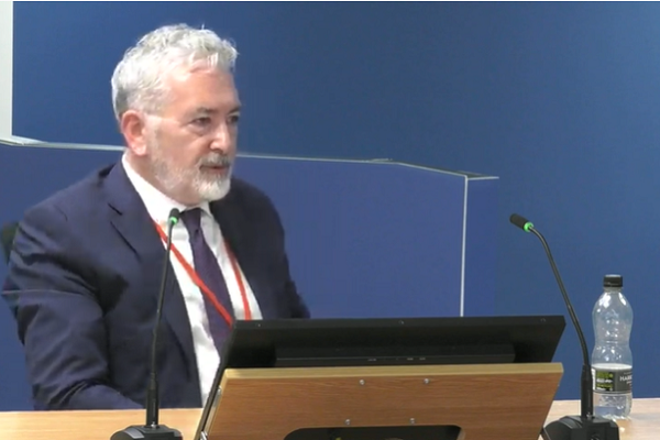 Robert Black gives evidence to the Grenfell Tower Inquiry (picture: Grenfell Tower Inquiry)