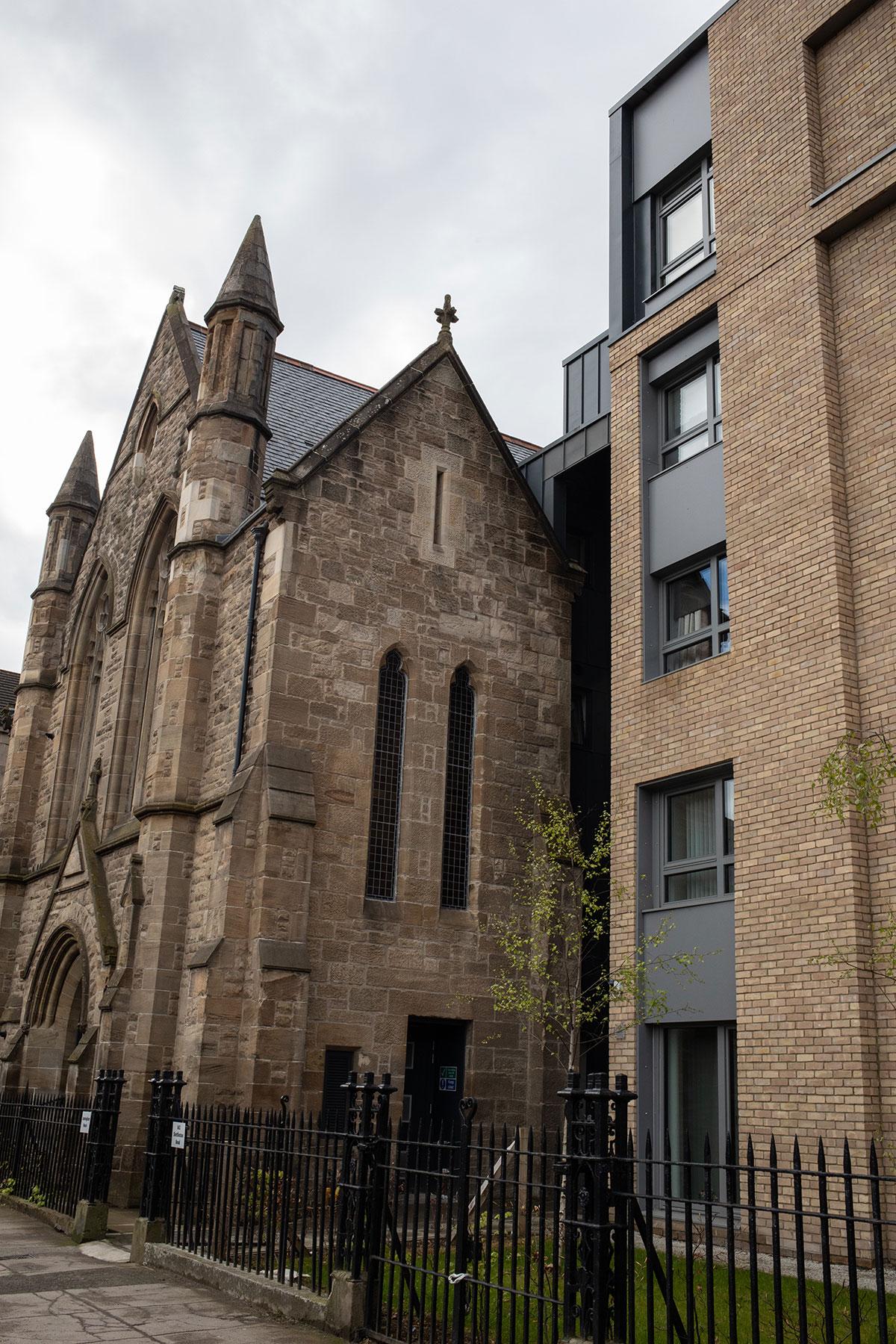 Carntyne Old Church, where Colin Thomson lives