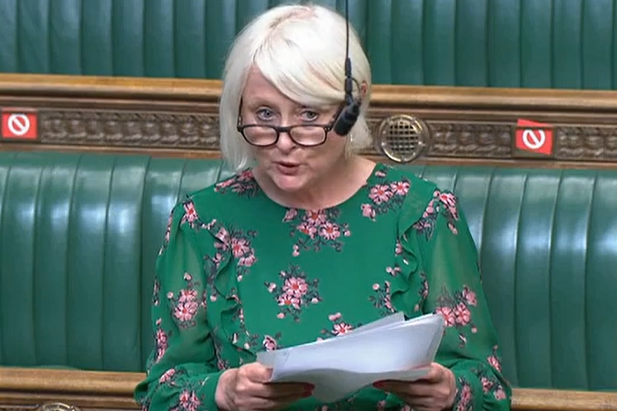 Siobhain McDonagh delivered a speech about social housing complaints in the House of Commons this week (picture: Parliament.tv)