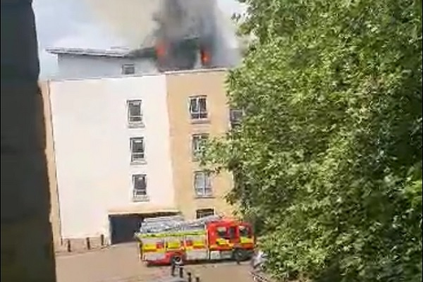 Housing association block evacuated in fire