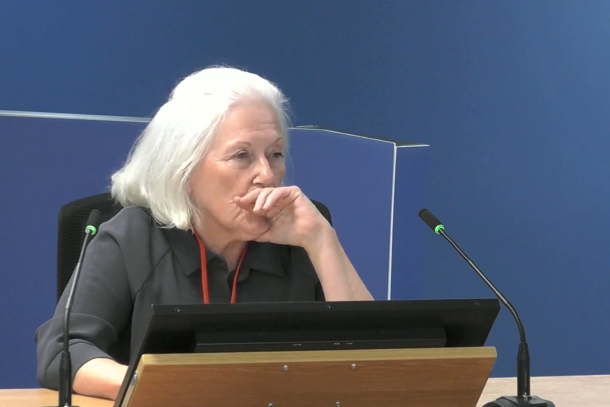 Beryl Menzies gave expert evidence on the issue of smoke control (picture: Grenfell Tower Inquiry)