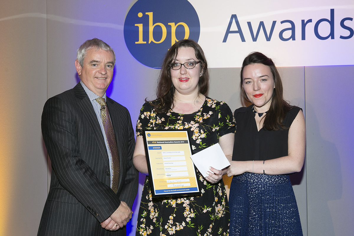 Dawn Foster receiving an IBP award in 2014