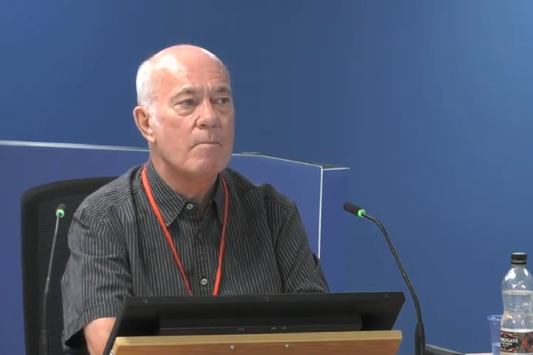 Robin Cahalarn gives evidence to the inquiry (picture: Grenfell Tower Inquiry)
