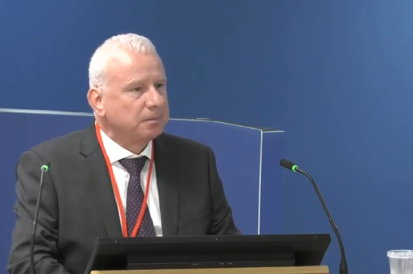 Warren Jenchner gives evidence to the inquiry (picture: Grenfell Tower Inquiry)