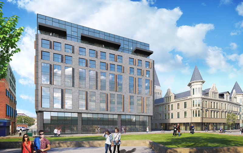 Hughes House in Liverpool will comprise 144 one-bedroom apartments, 99 two-bedroom apartments and 15 studio apartments