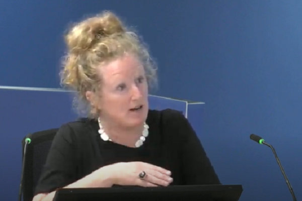 Dr Barbara Lane gives evidence to the inquiry (picture: Grenfell Tower Inquiry)