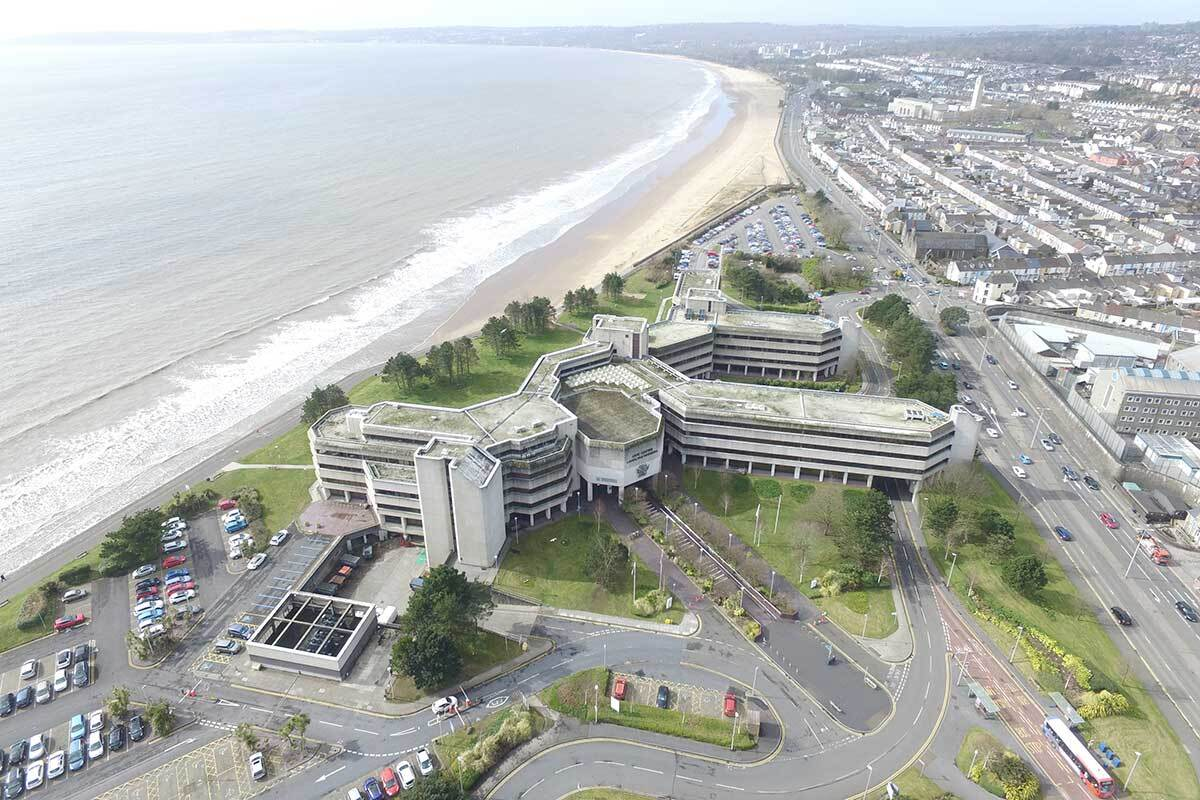 The Civic Centre in Swansea forms part of proposed regeneration (picture: Swansea Council)